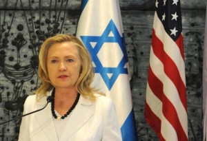 Hillary Clinton as secretary of state in Israel. (The Israel Project / CC BY-SA 2.0)